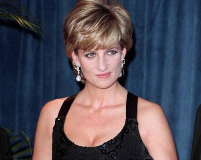Diana de Gales, en una gala...