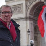 Reporter Peter Taylor at the Arc de Triomphe, Paris. ©BBC