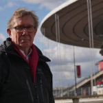 Reporter Peter Taylor outside the Stade de la France, Paris. ©BBC
