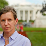 Hilary Andersson, Reporter. White House in background. ©BBC