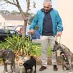 Cesar presenta al perro que entrena a otros en un esfuerzo por calmar su agresión. ©Leepson Bounds, Inc