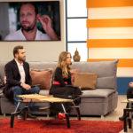 Ericsson y Gaby grabando entrevista.