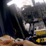 Atendiendo herido en helicóptero