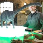 Steve Backshall's on a mission to uncover the most deadly dinosaurs of all time including the whip-tailed Diplodocus. ©BBC