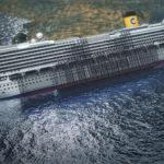 Costa Concordia al hundirse