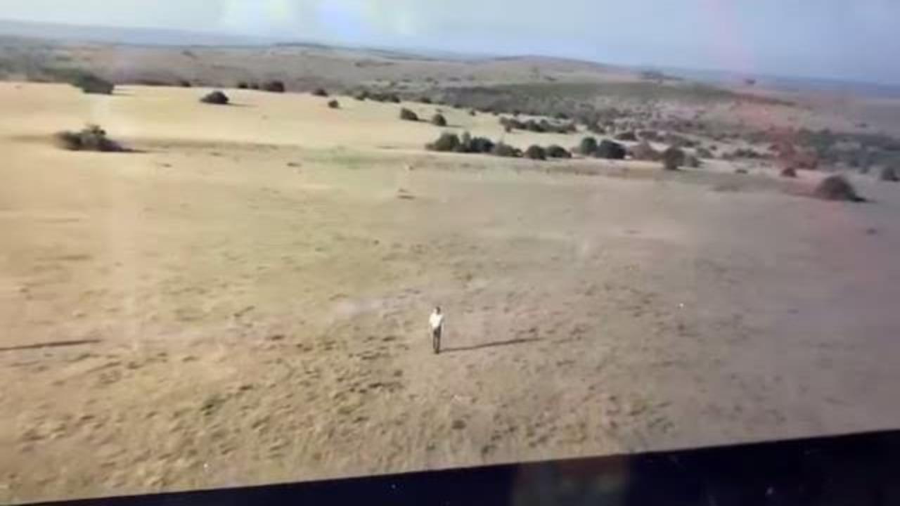 Toma aérea de Ron Magill con un drone