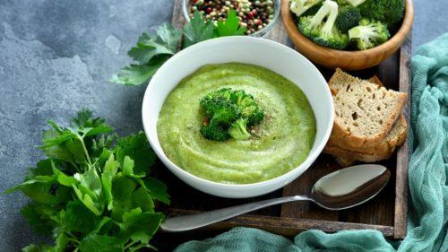 Crema vegana de brócoli