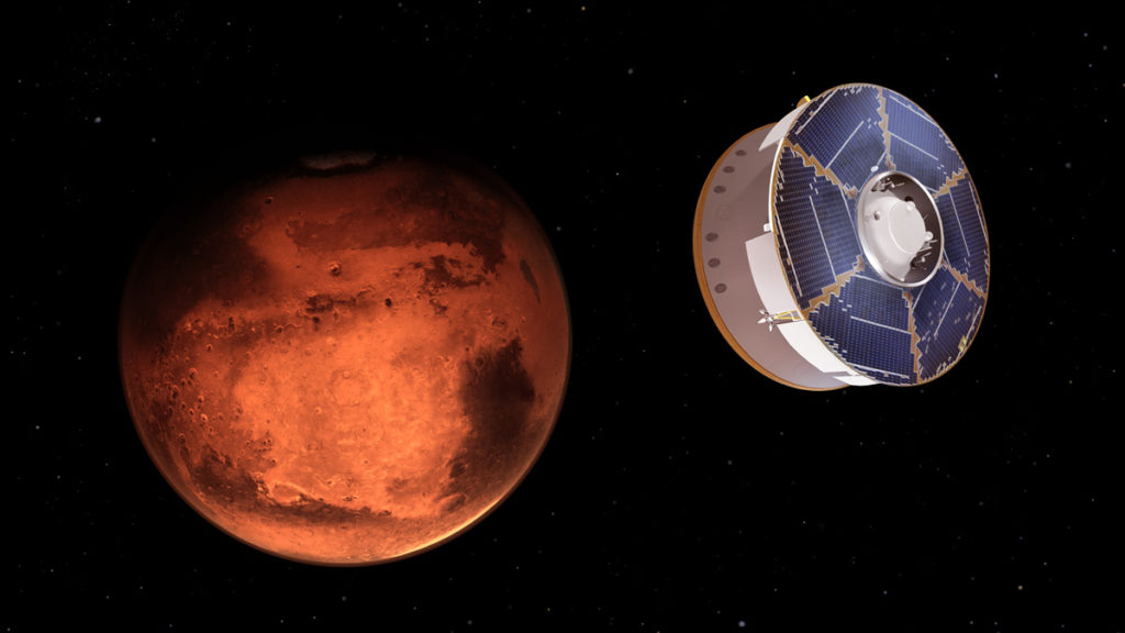 Perseverance Rover acercándose a Marte