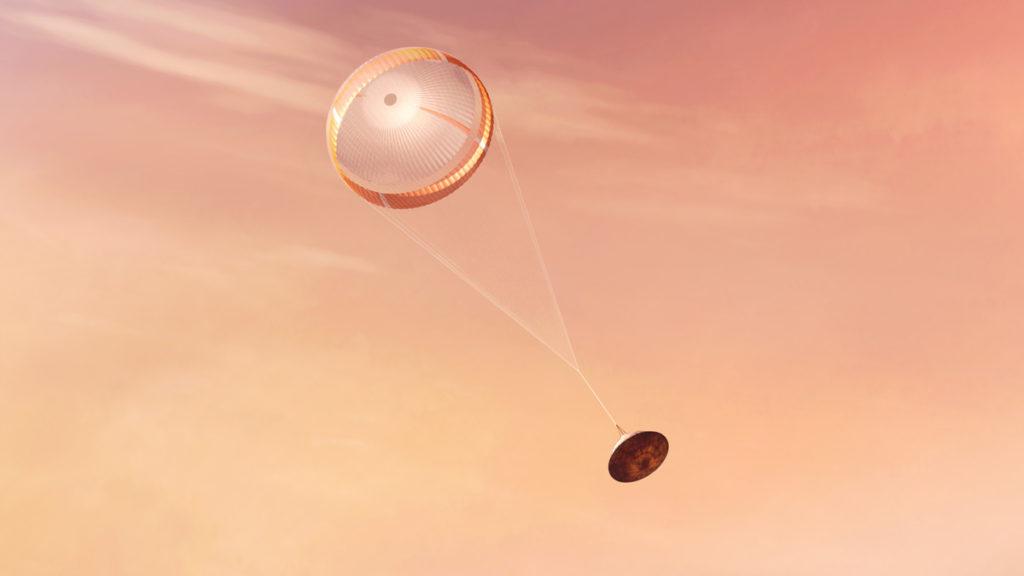 Perseverance despliega su paracaídas