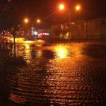 Calles inundadas por el huracán Sandy