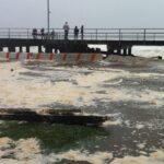 Estacionamiento inundado, Rockaway Beach