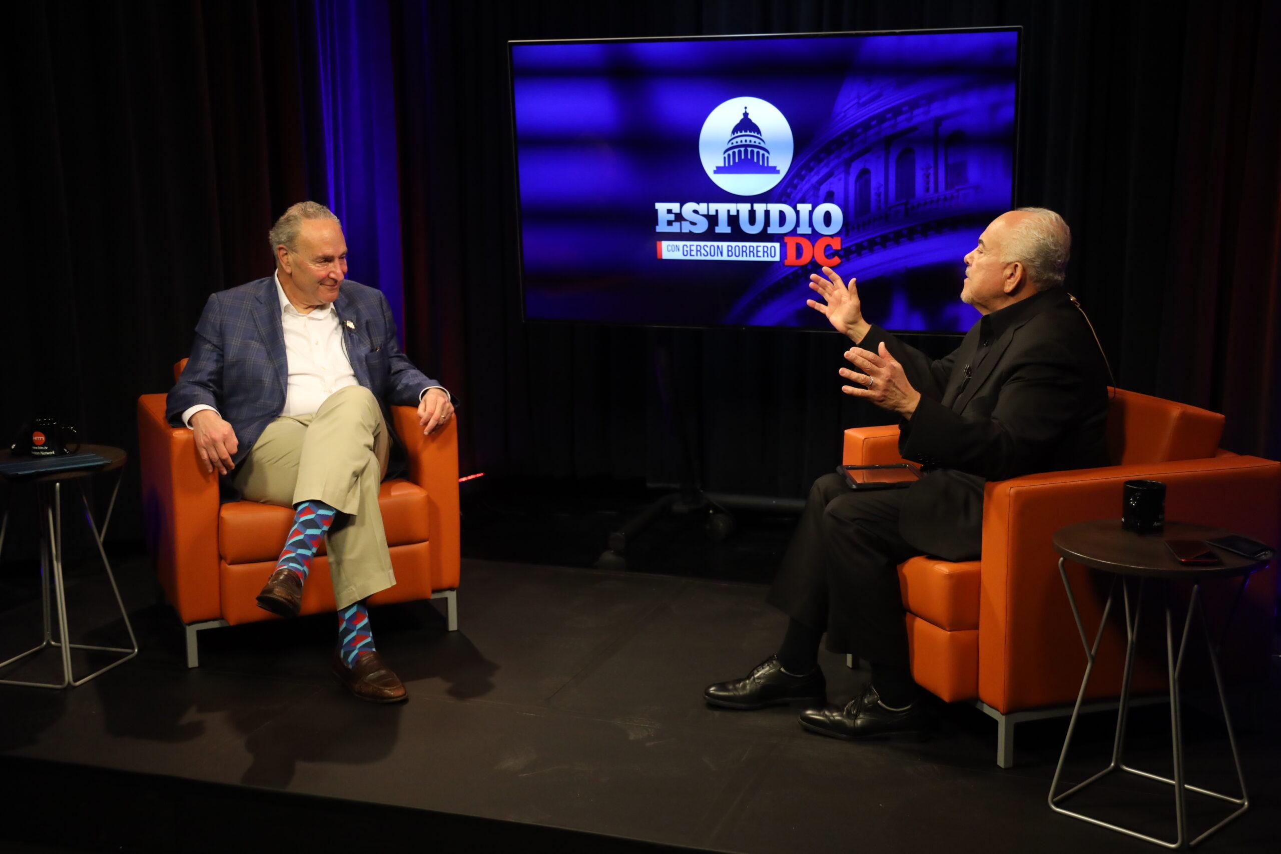 Entrevista exclusiva con Chuck Schumer en Estudio DC